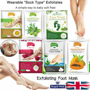 Exfoliating Peel Foot Sock Mask Baby Soft Feet Removes Dead Skin UK