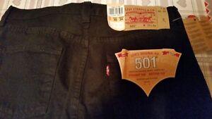Levis 501 W29 L32 tg 42 44 jeans nero dritto
