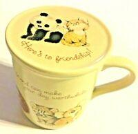 Vintage Hallmark Mug Mates Coffee Cup Mug Cat Panda 1983 Friendship SKU 044-056