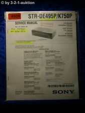 Sony Service Manual STR DE495P /K750P FM/AM Receiver (#4506)