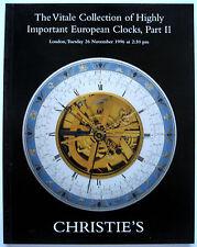 Vitale Collection Important European Clocks Auction Catalogue Part 1 & 2 208 Lot