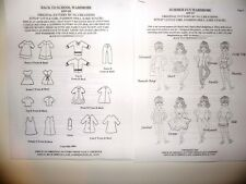 """Ng Creations Two Sewing Patterns Wardrobe fits 8"""" Stacie Doll Barbie Sister"""
