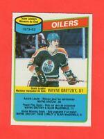 1980-81 O-Pee-Chee OPC  # 182 Oilers Team Checklist Wayne Gretzky  Nrmnt-mt