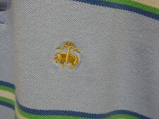 BROOKS BROTHERS ORIGINAL FIT PERFORMANCE POLO SHEEP LOGO MENS BLUE SHIRT LARGE L