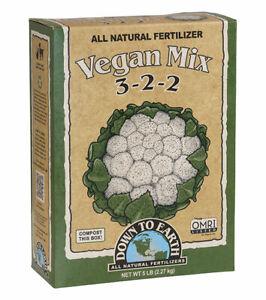 Down To Earth - Vegan Mix (3-2-2) 5 LB -  All Natural Organic Fertilizers