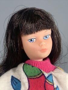 Vintage Action Girl Dollikin Uneeda Doll Brunette 1970s