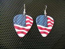 American Flag / Guitar Pick Earrings / Old Glory / U.S.A.