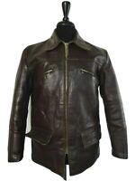 Men's Vintage Horsehide Leather Motorcycle Jacket 40R (S)