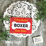 Mini Sign * Spoiled Boxer Dog Gift USA All Dog Breeds DecoWords Wood Ornament