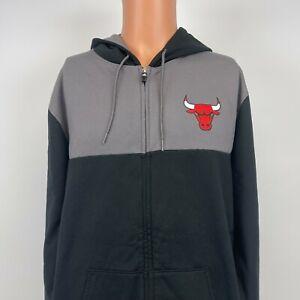 Adidas Chicago Bulls Clima Warm Full Zip Hoodie Sweatshirt NBA Basketball XL