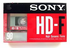 Sony HD-F90 Ferric Blank Audio Cassette 90 Minute Tape New Sealed Stock