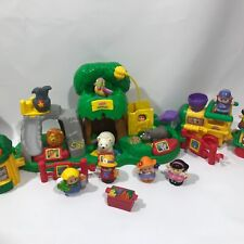 Fisher Price Little People zoo with train fairground ride kiosks people animals