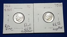 1963 & 1964 USA Proof Roosevelt Dimes 10C Cents (Lot of 2) as pictured - 75