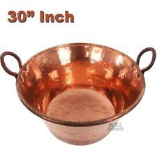 "Cazo de Cobre Puro 30"" Para Carnitas Classic Traditional Tacos Pure Copper"