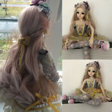 Baby Girls Gift 1/3 BJD Doll Ball Jointed Body with Face Makeup Clothes Wig Sets