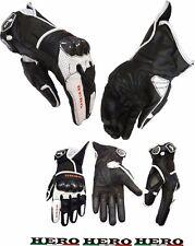 Guanti Moto In Pelle Racing Hero HR-113 Con Protezioni in Carbonio