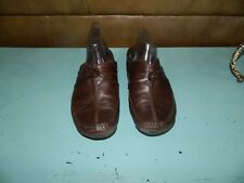 Clarks Active Air Womens Brown Leather Gum Moccasin Slides Mules Shoes Size 10M