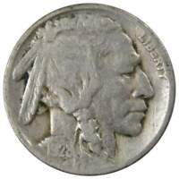 1928 D Indian Head Buffalo Nickel 5 Cent Piece AG About Good 5c US Coin