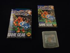 Chuck Rock 1 (Sega Game Gear, 1992) COMPLETE w/ Box manual game WORKS!