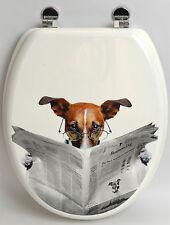 WC SITZ READING DOG TOILETTENDECKEL KLODECKEL KLOBRILLE WC DECKEL TOILETTENSITZ