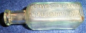 Vintage Helwig And Leitch Baltimore Md Bottle1890-1910