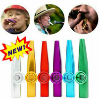 1* Kazoo Harmonica Mouth Flute Kids Party Gift Musical Alloy Aluminum R6W1