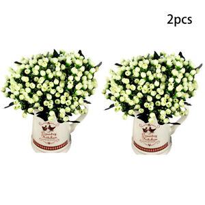 30Heads Silk Artificial Flowers rose Wedding Home Decor Bouquet Fake Flower