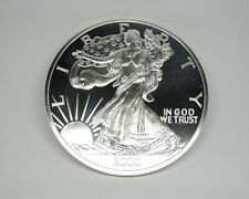 2000 United States Liberty Silver Eagle 1/2 Troy Pound Large Proof Coin Medal
