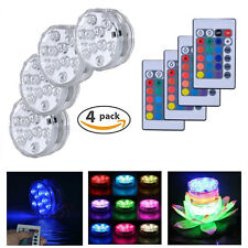 Waterproof LED Vase Light ,Swimming Pool Floral Lamp W/ Remote Control (4 Pack).
