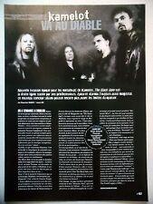 COUPURE DE PRESSE-CLIPPING :  KAMELOT  04/2005 Thomas Youngblood,The Black Halo
