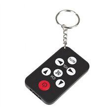 Black Universal Infrared IR Mini TV Remote Control Key Ring Key Ring 7 Keys