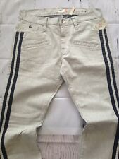 G BY GUESS MENS SKINNY JEANS TRUE WHITE WASH WITH CONTRAST BLACK SIDES SIZE 34