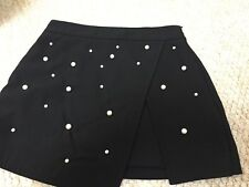 zara pearl embellished mini skirt