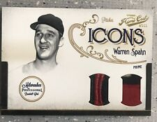 WARREN SPAHN 2011 PRIME CUTS ICONS DUAL PATCH! 1/5 BRAVES