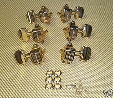 GROVER IMPERIAL TUNERS GOLD KIDNEY BUTTON FOR GRETSCH GUITARS COUNTRY GENTLEMAN