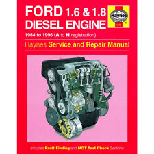 Ford Haynes Manual 1984-96 1.6 1.8 Diesel Engine Workshop