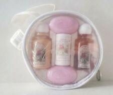 Vintage Sarah Michaels Raspberry Bath Shower Gel Lotion Talc Soap Travel Set Lot