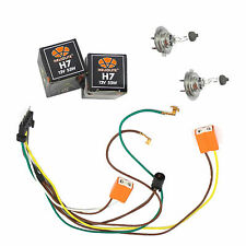 For L / R Headlight Wiring Harness & Headlight Bulb H7 55W Benz C320 C350 C280