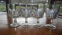 Clear Libby Duratuff Water Glasses Goblets Vertical Line design 4 10oz stems