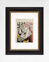 Roy Lichtenstein 1981 Original Print Hand Signed with Certificate. Resale $5,850