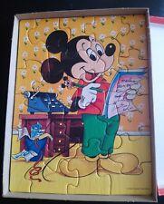 Mickey Mouse Vintage 20 Piece Chunky Jigsaw Puzzle 1983 Disney Waddingtons vgc