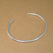 Solid 990 Fine Silver Round Stacking Bangle Bracelet 50 x 60mm 3mm thick 12g