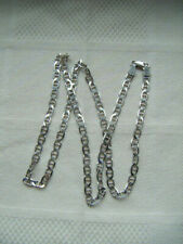 Vintage Italian sterling silver link chain necklace Marked Italy 925