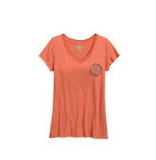 Harley-Davidson V Neck Graphic T-Shirts for Women