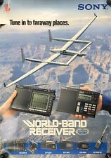 Rare Vintage Sony World Band Receiver ICF- Advertising Poster 23 x 33 #26