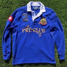 EUC Mens Blue Polo Ralph Lauren PRL Club Switzerland #2 Rugby L/S Jersey Shirt S