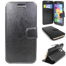 Samsung Galaxy J7J700 Handyhülle Schutz Hülle Schale Flip Case Tasche schwarz