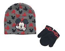 Disney Mickey Mouse, Baby/Toddler Winter Hat & Mitten Set (2T-5T)