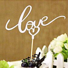 LOVE Cake Topper Sparkle Glitter Gold Wedding Decorating Engagement Party DIY GE