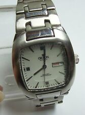 CROTON Men's Automatic Silver Tone Sharp Looking Watch